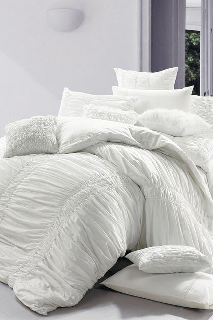 Image of Melange Home Full/Queen Belle Embroidered Duvet Set - White