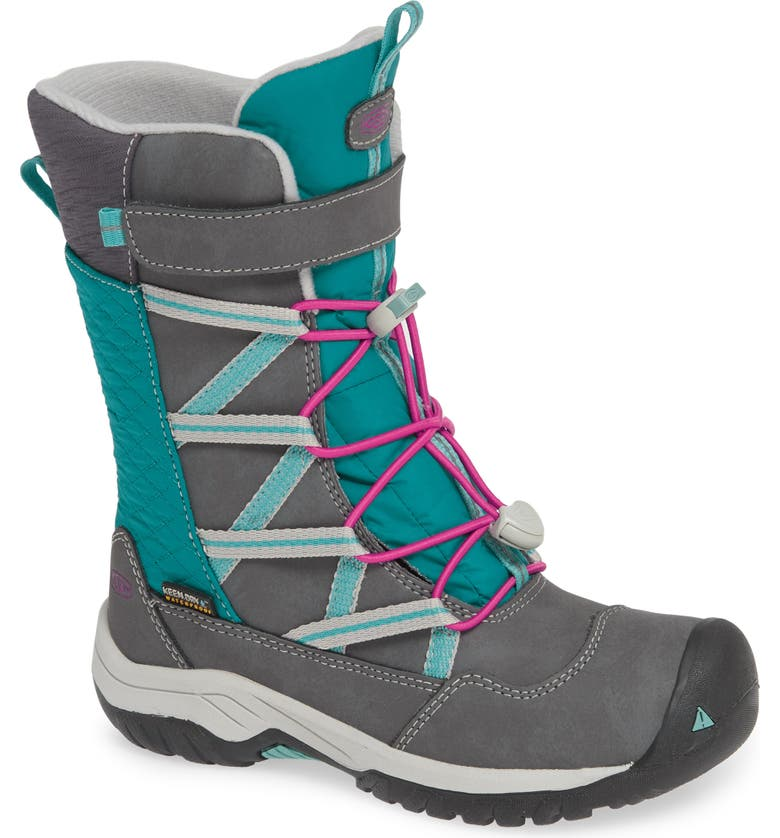 KEEN Hoodoo Waterproof Insulated Boot, Main, color, STEEL GREY/ CABARET