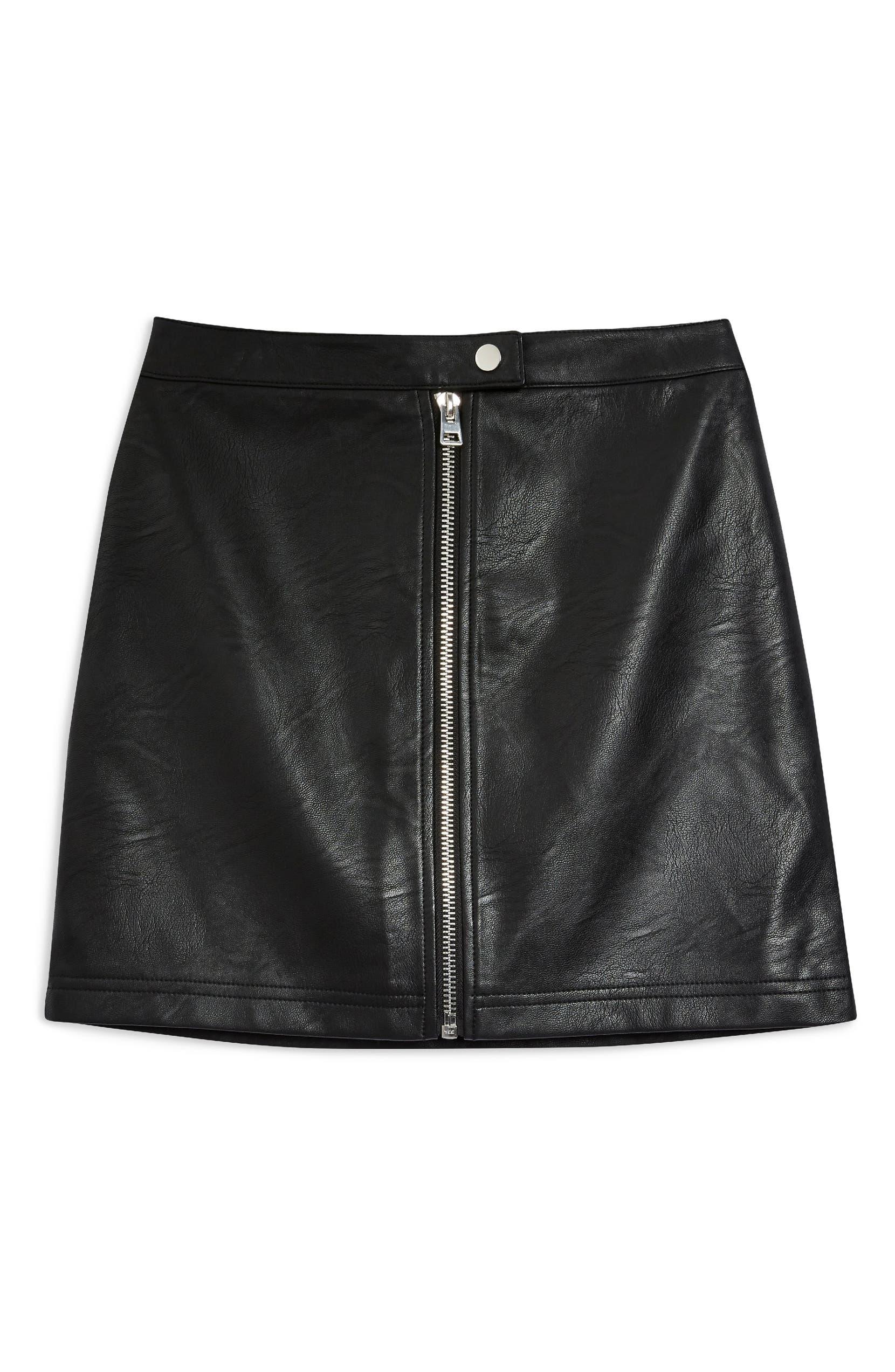 81ef7468d731 Topshop Penelope Faux Leather Miniskirt (Regular & Petite) | Nordstrom