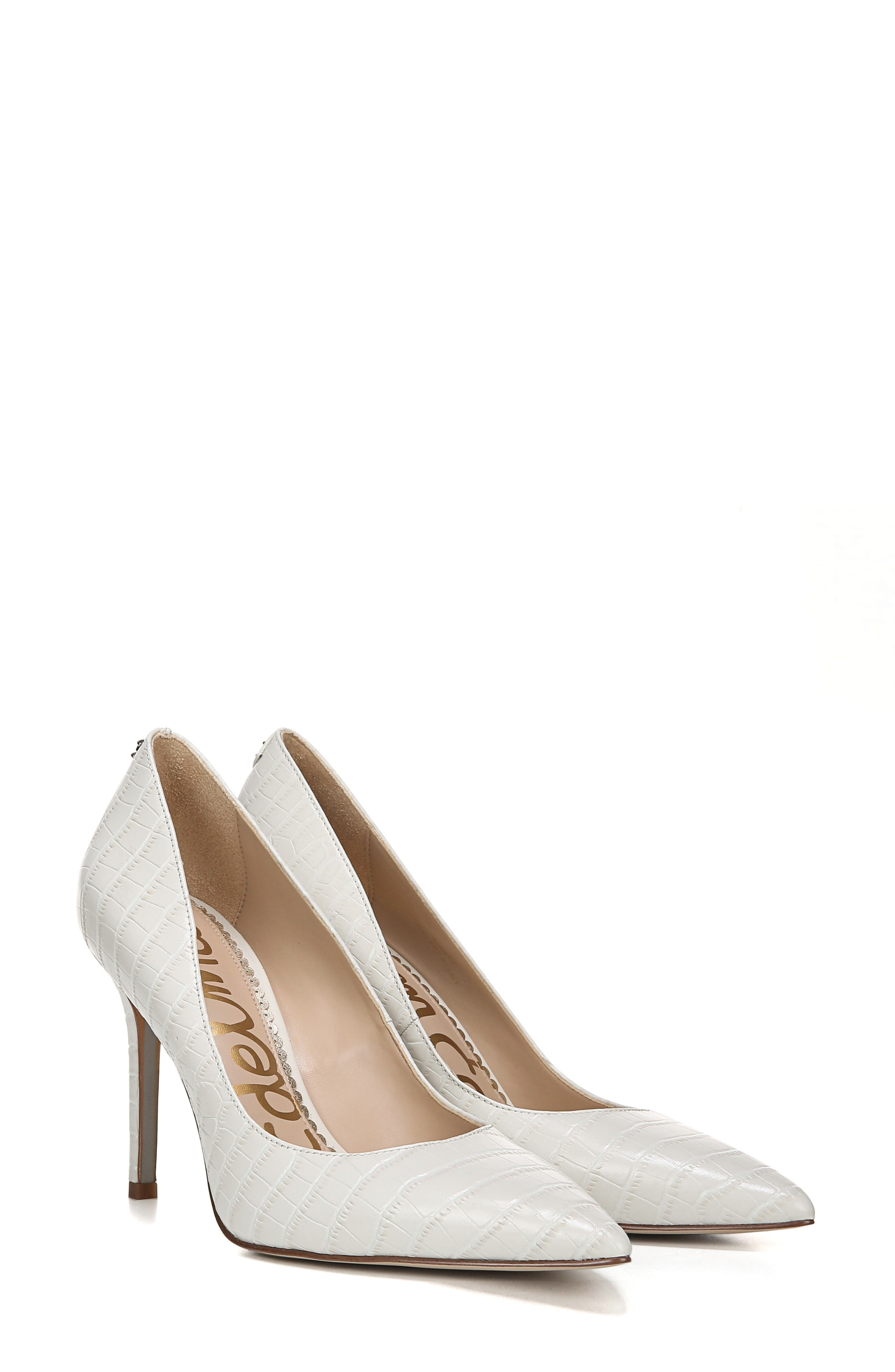 ,                             Hazel Pointy Toe Pump,                             Alternate thumbnail 9, color,                             MODERN IVORY LEATHER