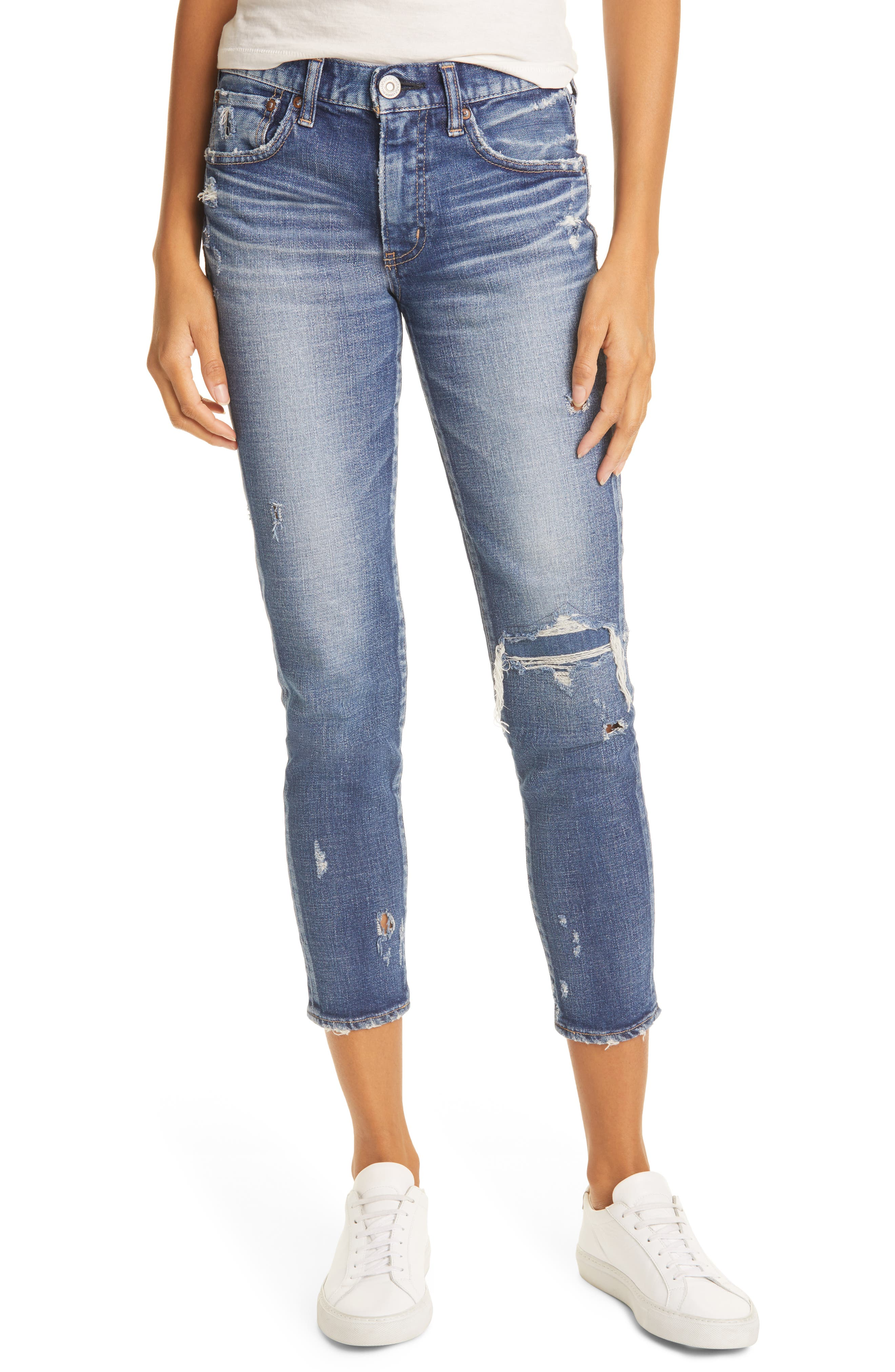 Lenwood Ripped Ankle Skinny Jeans