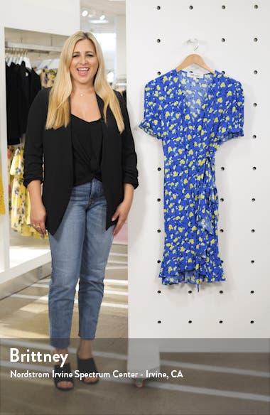 Emilia Floral Short Sleeve Wrap Dress, sales video thumbnail