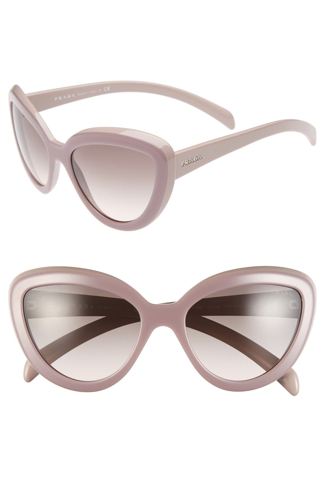 ,                             57mm Cat Eye Sunglasses,                             Main thumbnail 5, color,                             600