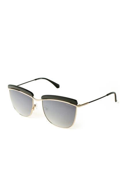 Image of Balmain 56mm Upper Brow Bar Sunglasses