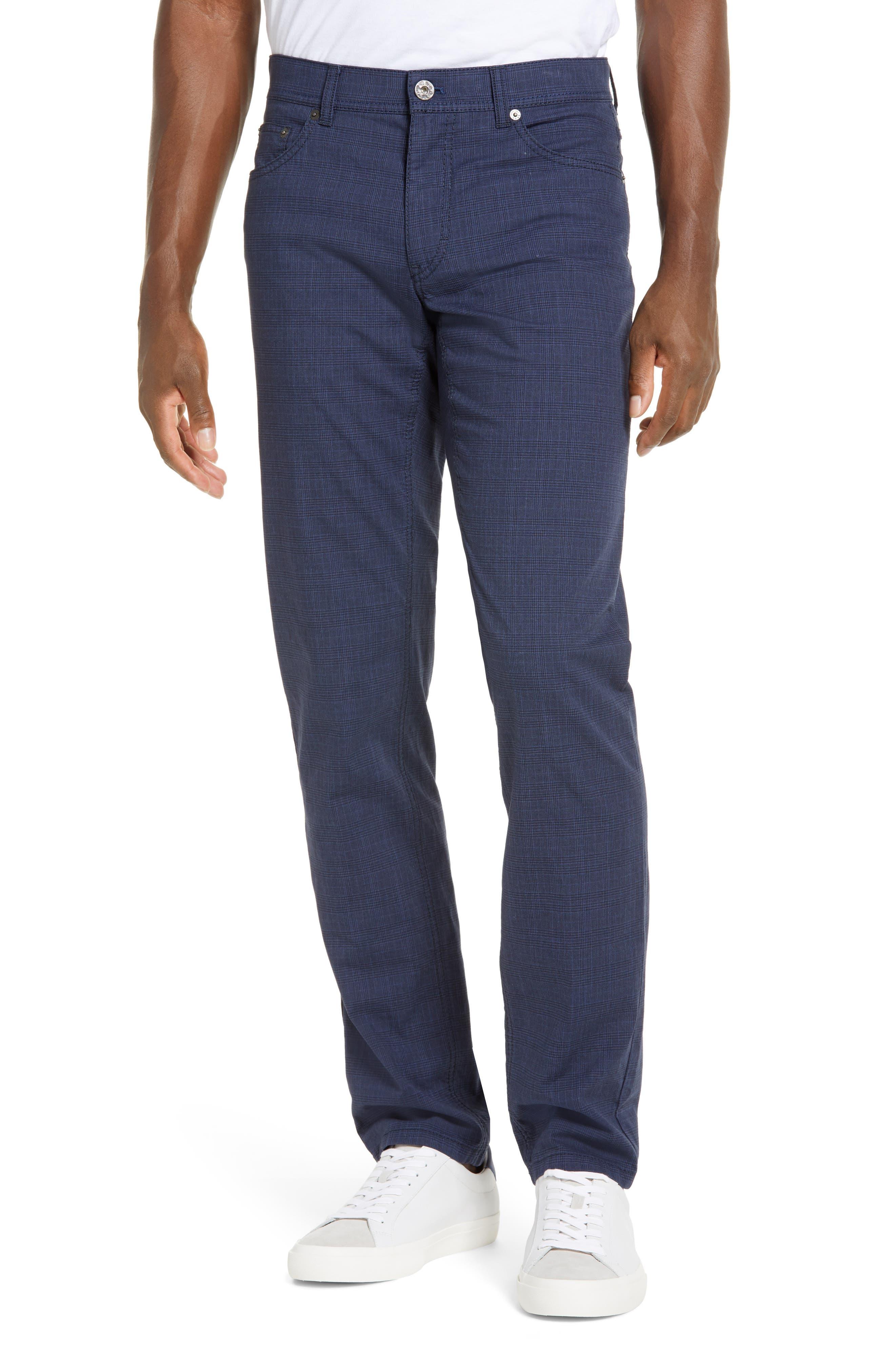 Cooper Fancy Houndstooth Plaid Five-Pocket Pants