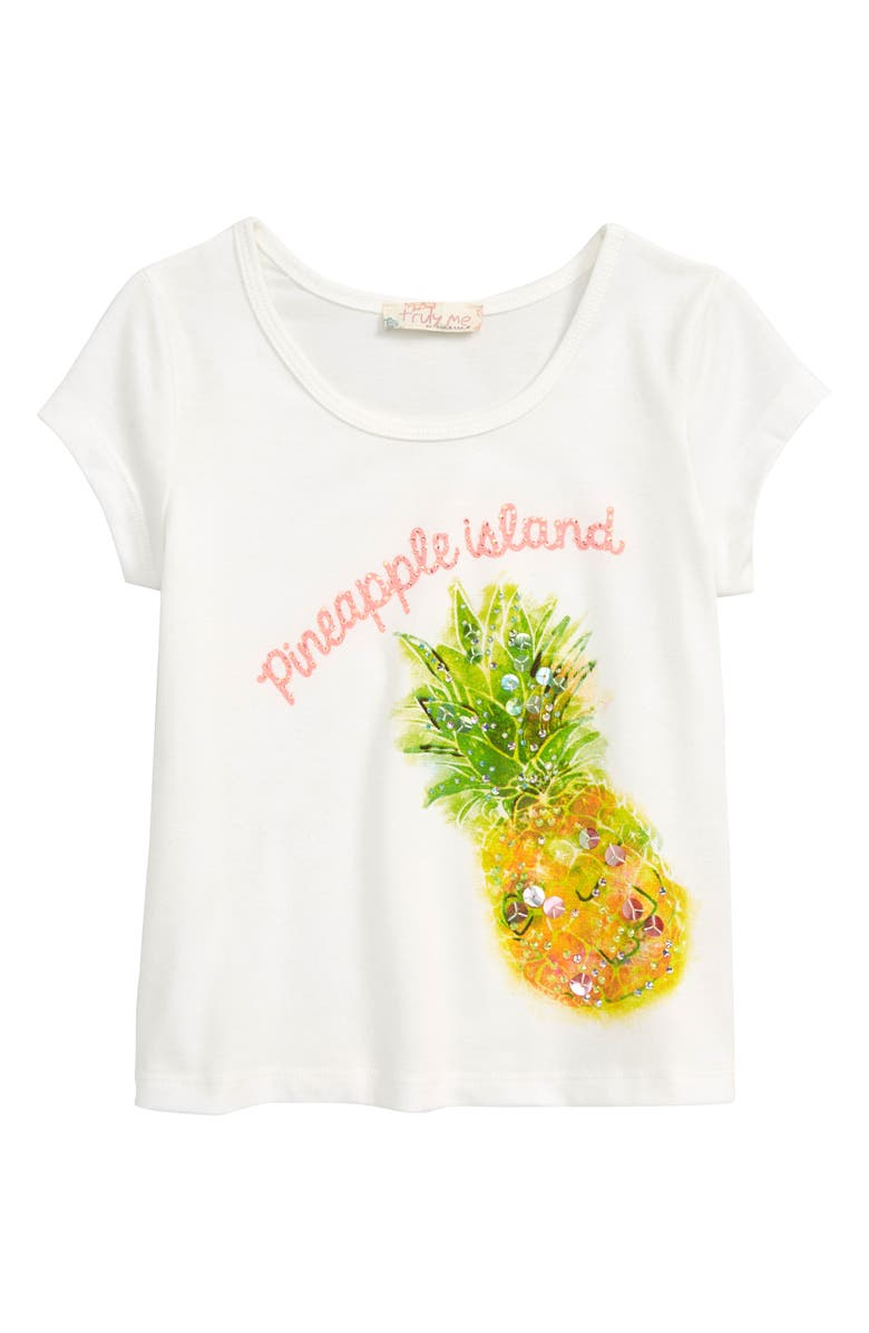 TRULY ME Pineapple Island Tee, Main, color, 100