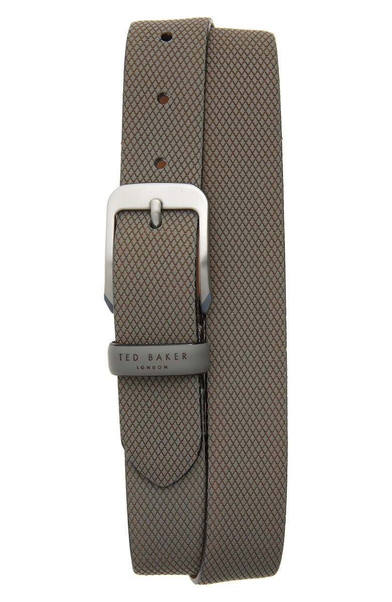 TED BAKER LONDON Streaky Leather Belt, Main, color, 030