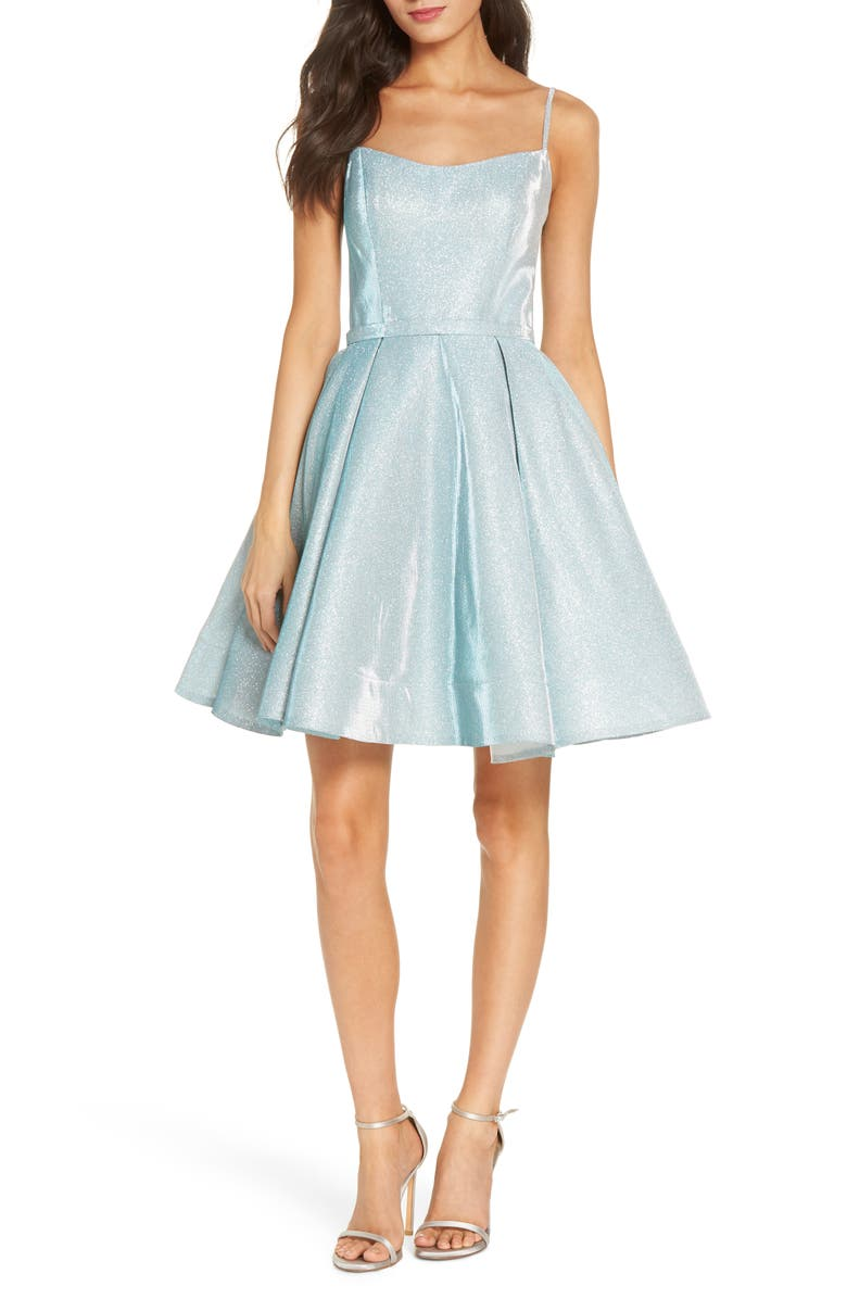 628b96b3f Mac Duggal Shimmer Fit & Flare Dress, Main, color, SHIMMERING ICE
