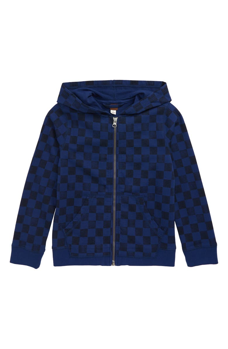 TEA COLLECTION Checkerboard Full Zip Hoodie, Main, color, CHECKERBOARD