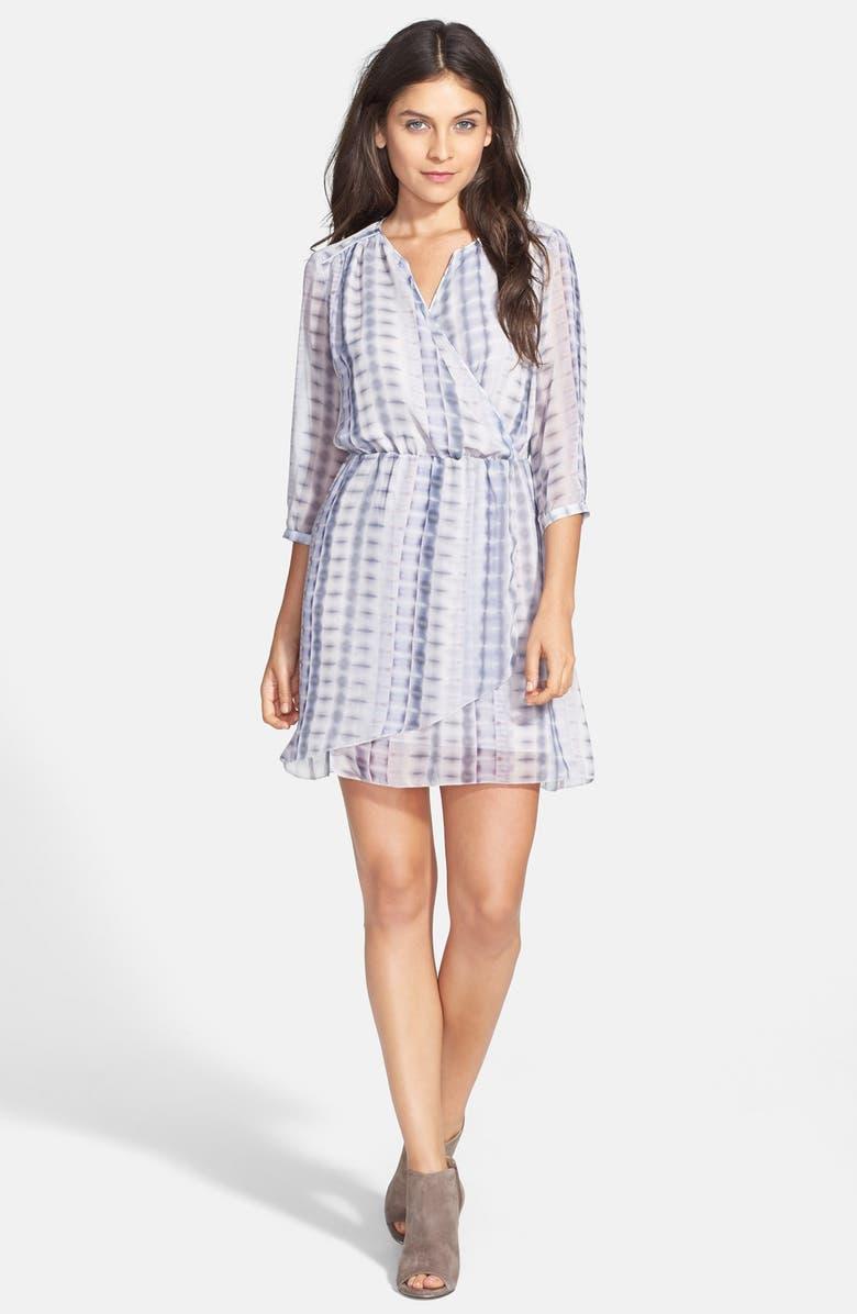 LAMADE Batik Print Faux Wrap Dress, Main, color, 501