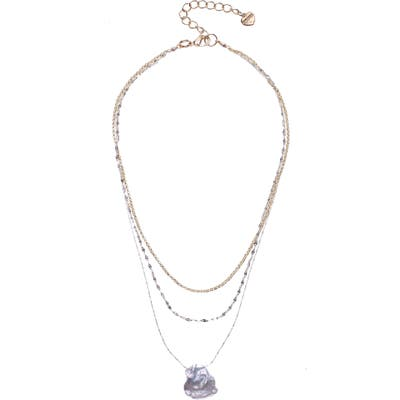 Nakamol Design Freshwater Pearl Layered Pendant Necklace