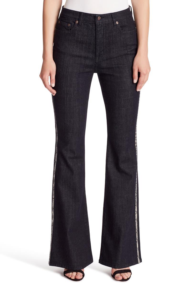 ELLA MOSS High Waist Flare Jeans, Main, color, RINSE