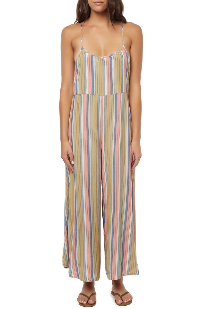 O'NEILL Juls Stripe Jumpsuit, Main, color, 300