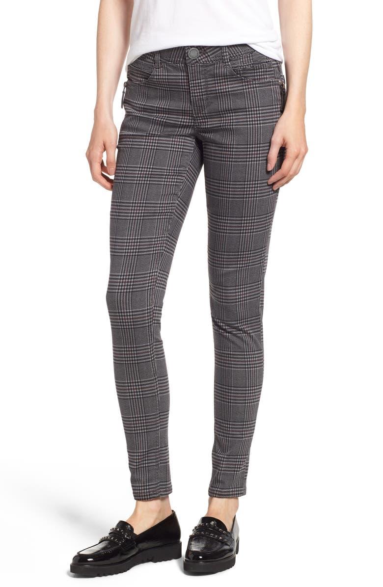WIT & WISDOM Ab-Solution Plaid Slim Pants, Main, color, 030