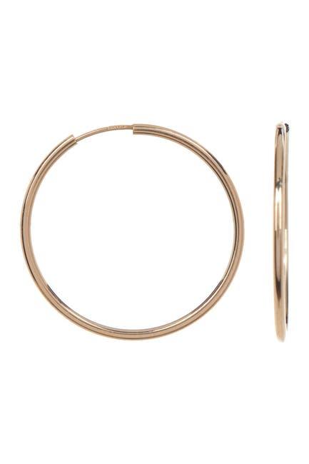 Image of Candela 14K Yellow Gold Endless 25mm Hoop Earrings