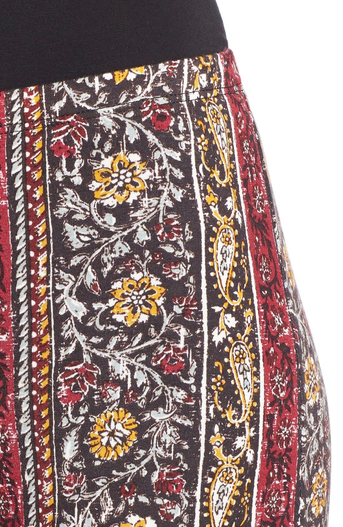 ,                             Mixed Print Flare Leg Pants,                             Alternate thumbnail 33, color,                             012