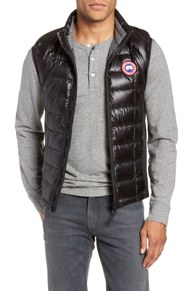 CANADA GOOSE 'Hybridge<sup>™</sup> Lite' Slim Fit Packable Quilted 800-Fill Down Vest, Main, color, BLACK/ GRAPHITE