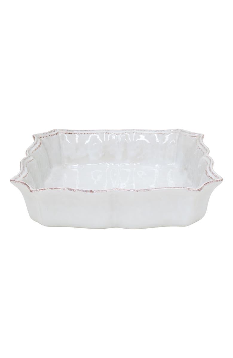 CASAFINA Impressions Square Baking Dish, Main, color, WHITE