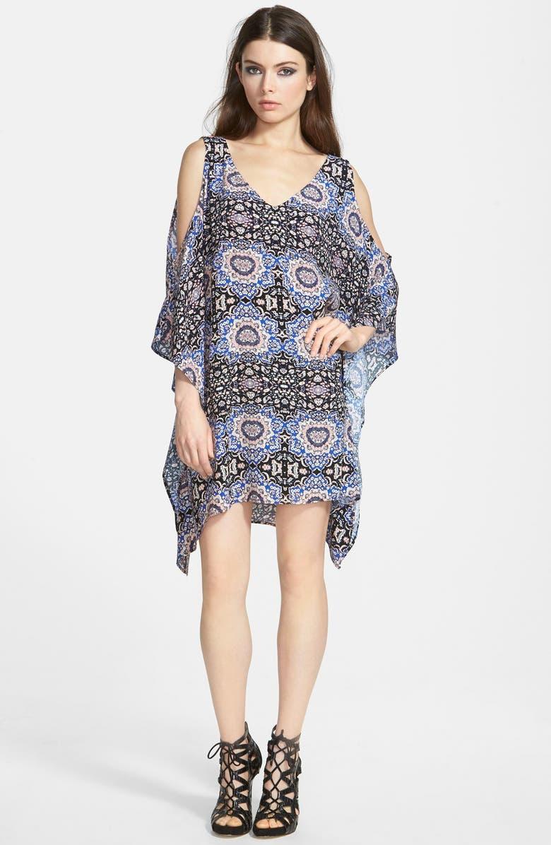 ASTR THE LABEL ASTR Cold Shoulder Shift Dress, Main, color, 001