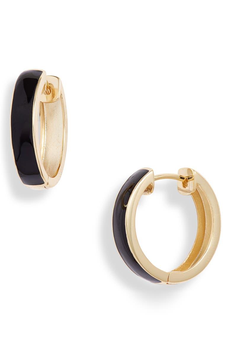 ARGENTO VIVO STERLING SILVER Argento Vivo Enamel Plated Hoop Earrings, Main, color, 710