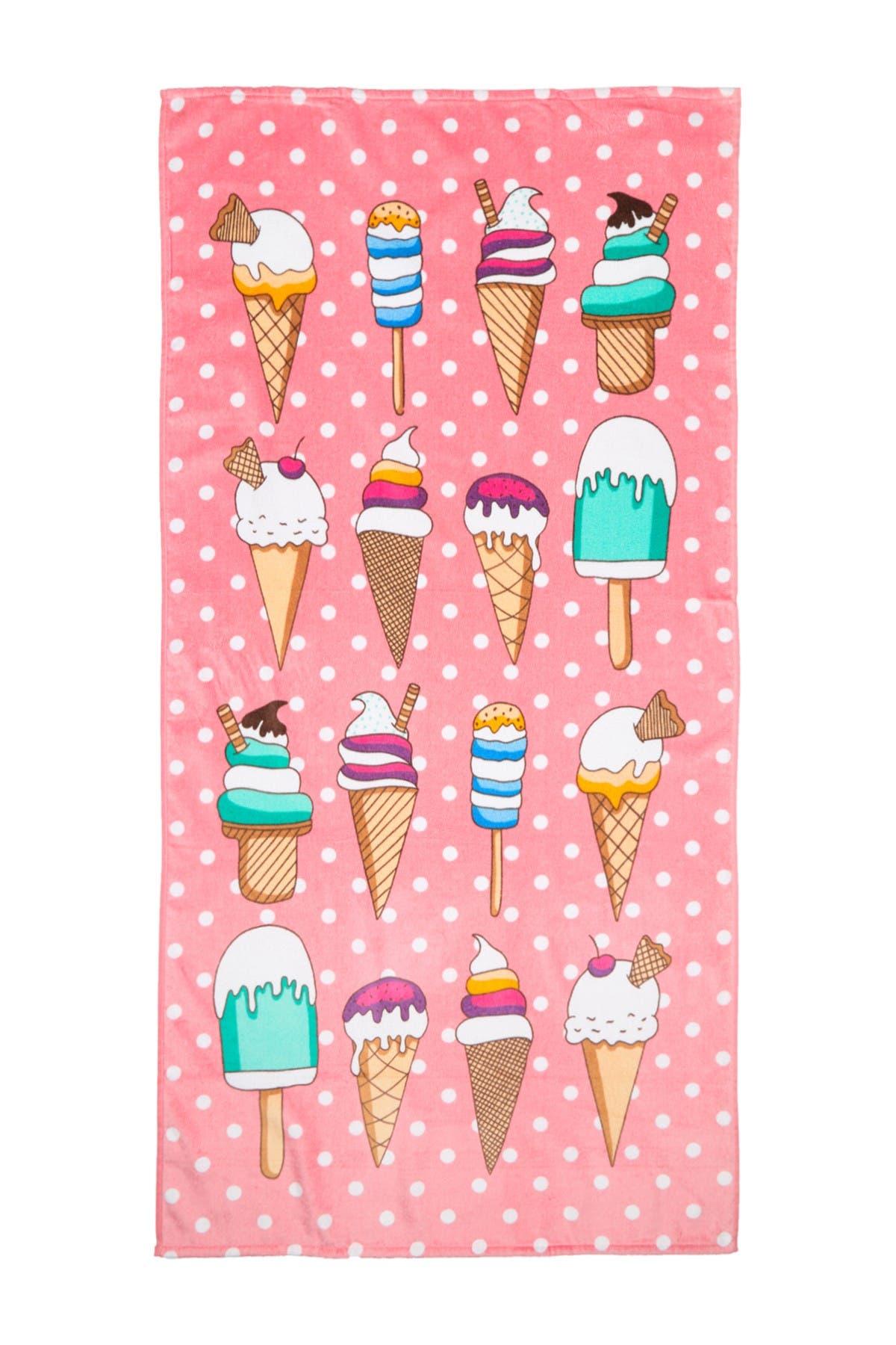 Image of Apollo Towels Ice Cream Print Beach Towel