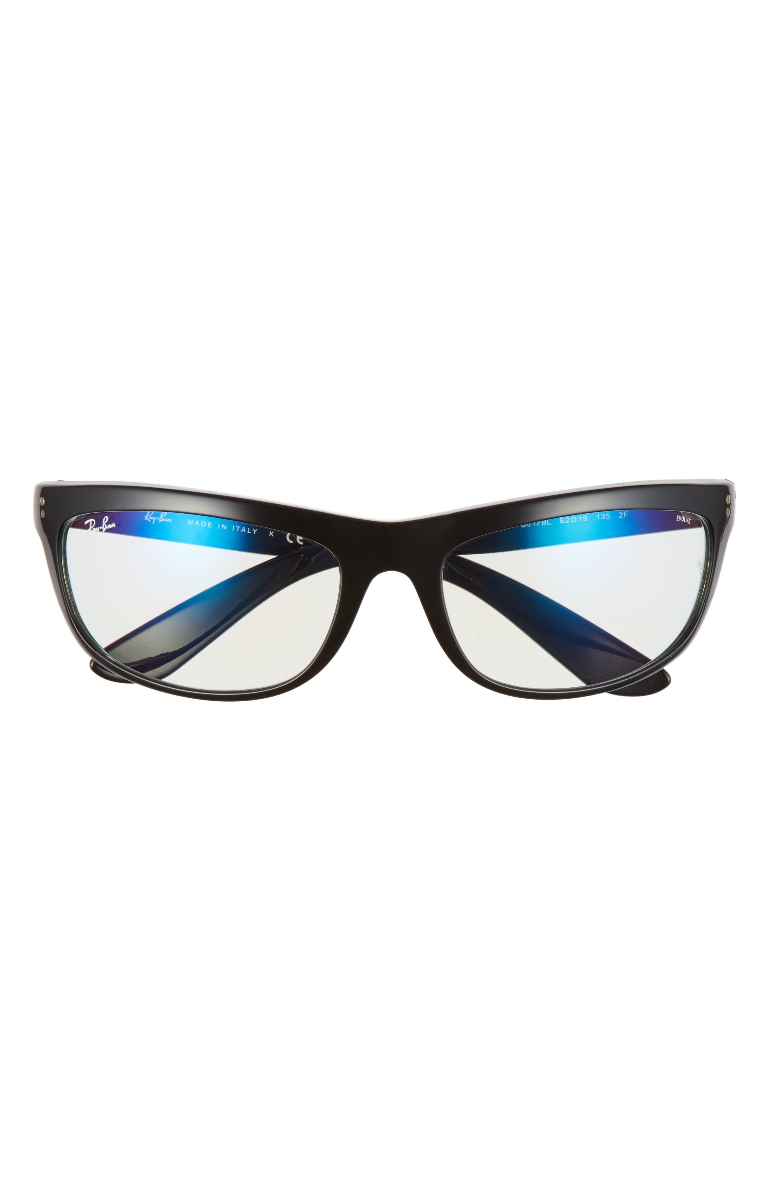 Image of Ray-Ban Balorama Blue Light Blocking 62mm Oversize Optical Glasses