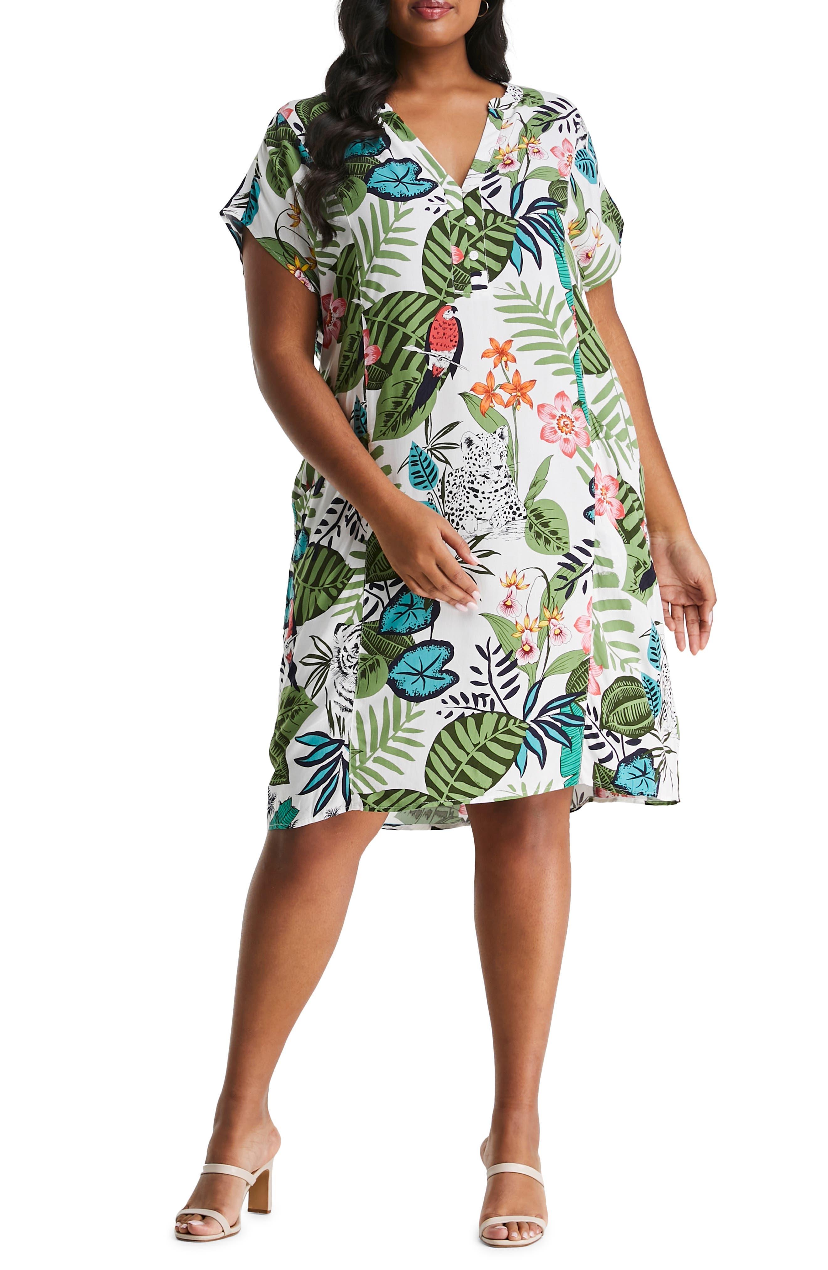 Sumatra Jungle Print Shift Dress