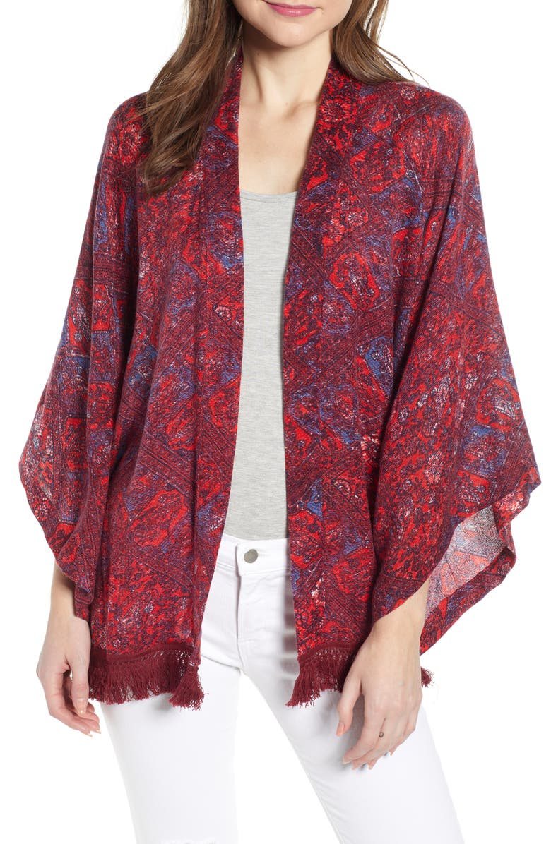 Treasure Bond Fringe Open Front Cardigan