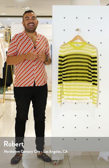 Kayla Stripe Stretch Linen Sweater, sales video thumbnail