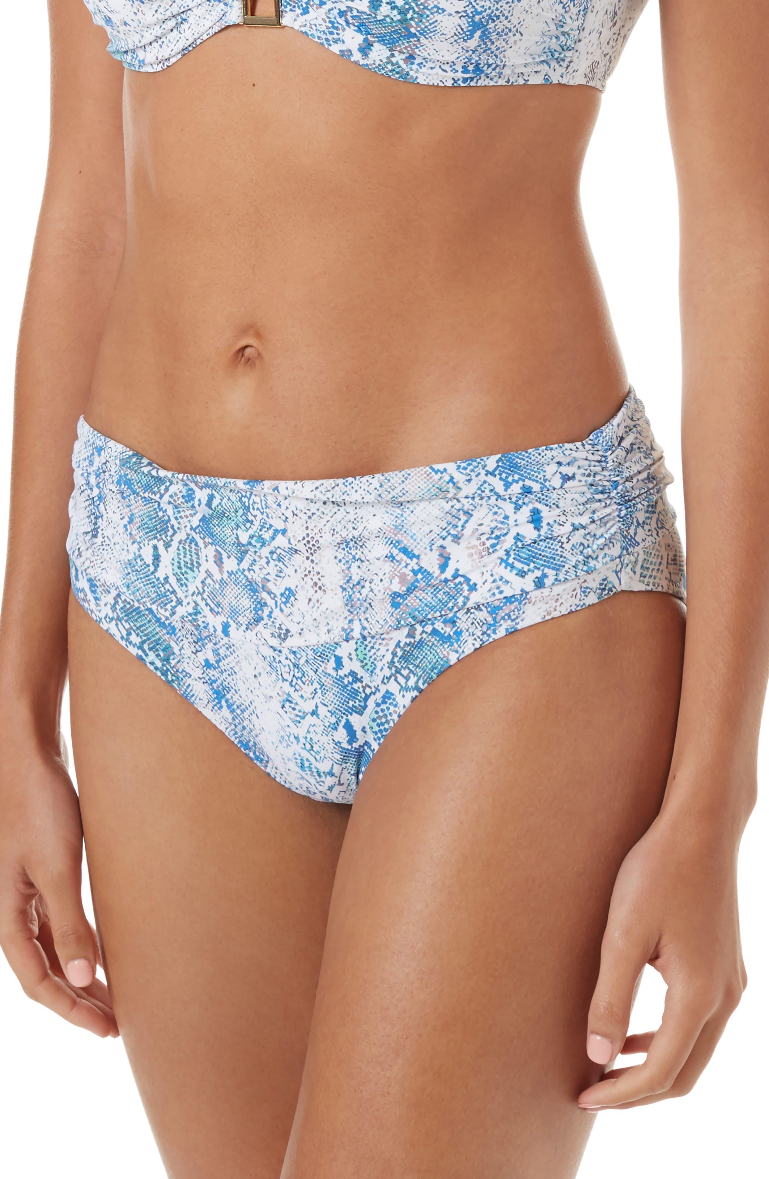 Melissa Odabash Bel Air Bikini Bottoms, Blue