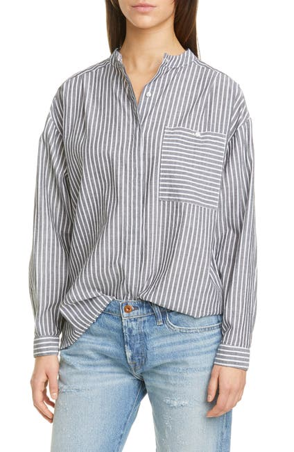 Image of NSF CLOTHING Akira Pocket Button Up Blouse