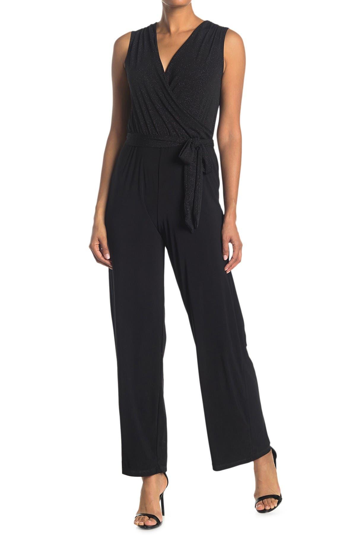 Image of TASH + SOPHIE Jersey Jumpsuit Glitter Top