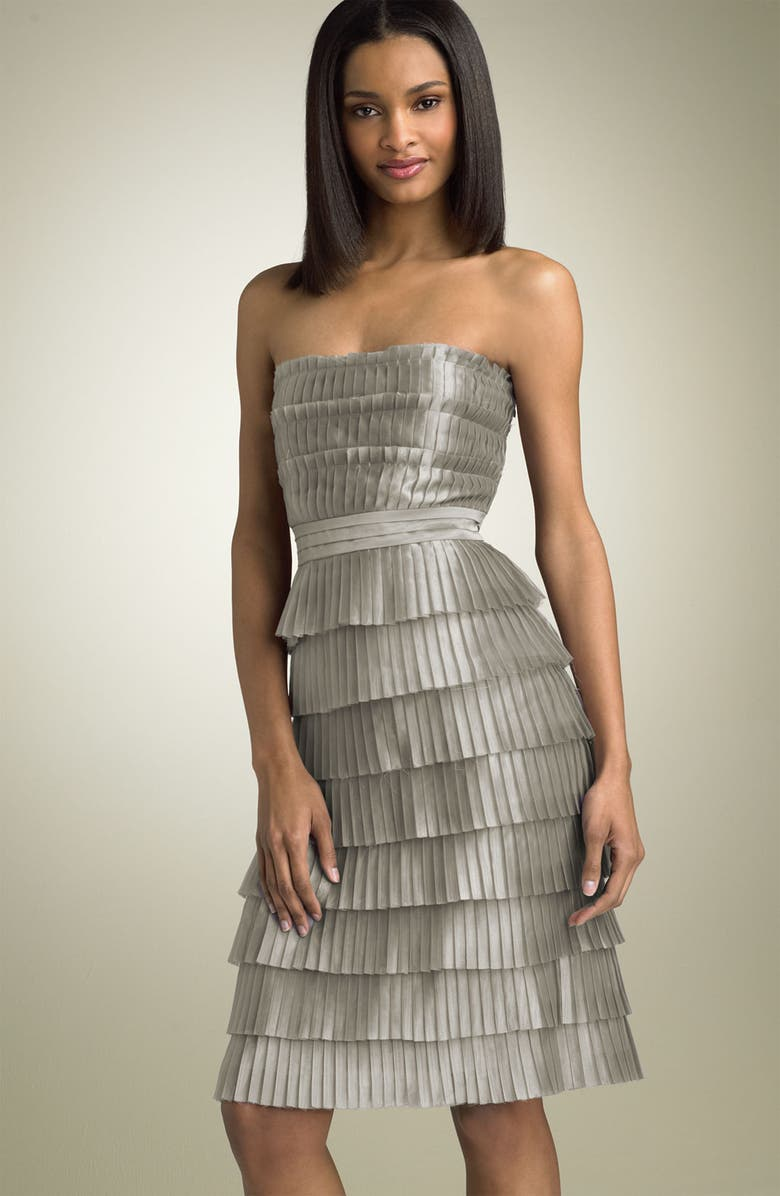CALVIN KLEIN Strapless Tiered Dress, Main, color, 096