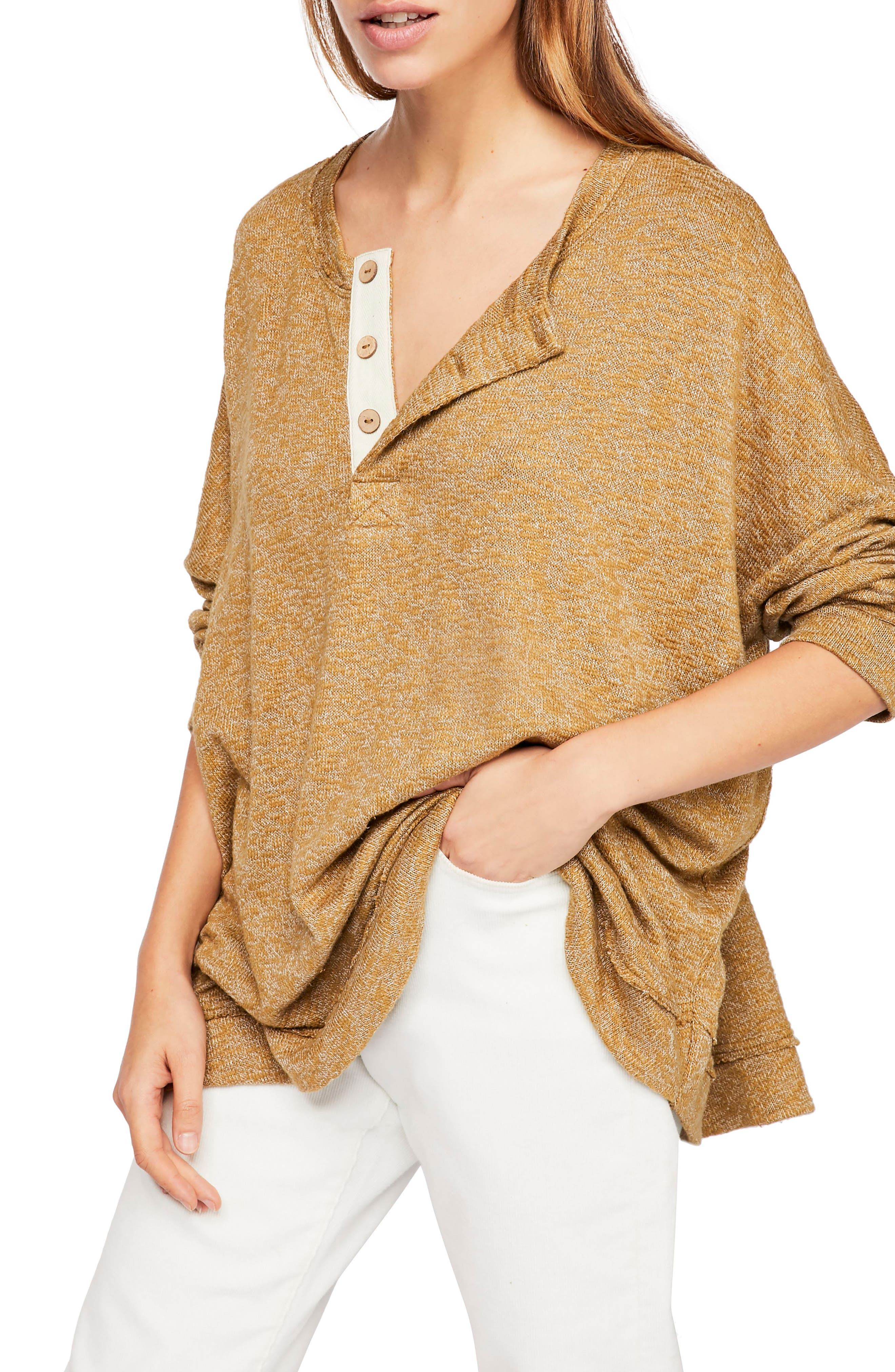 ,                             Endless Summer by Free People Sleep to Dream Knit Top,                             Main thumbnail 1, color,                             MOSS