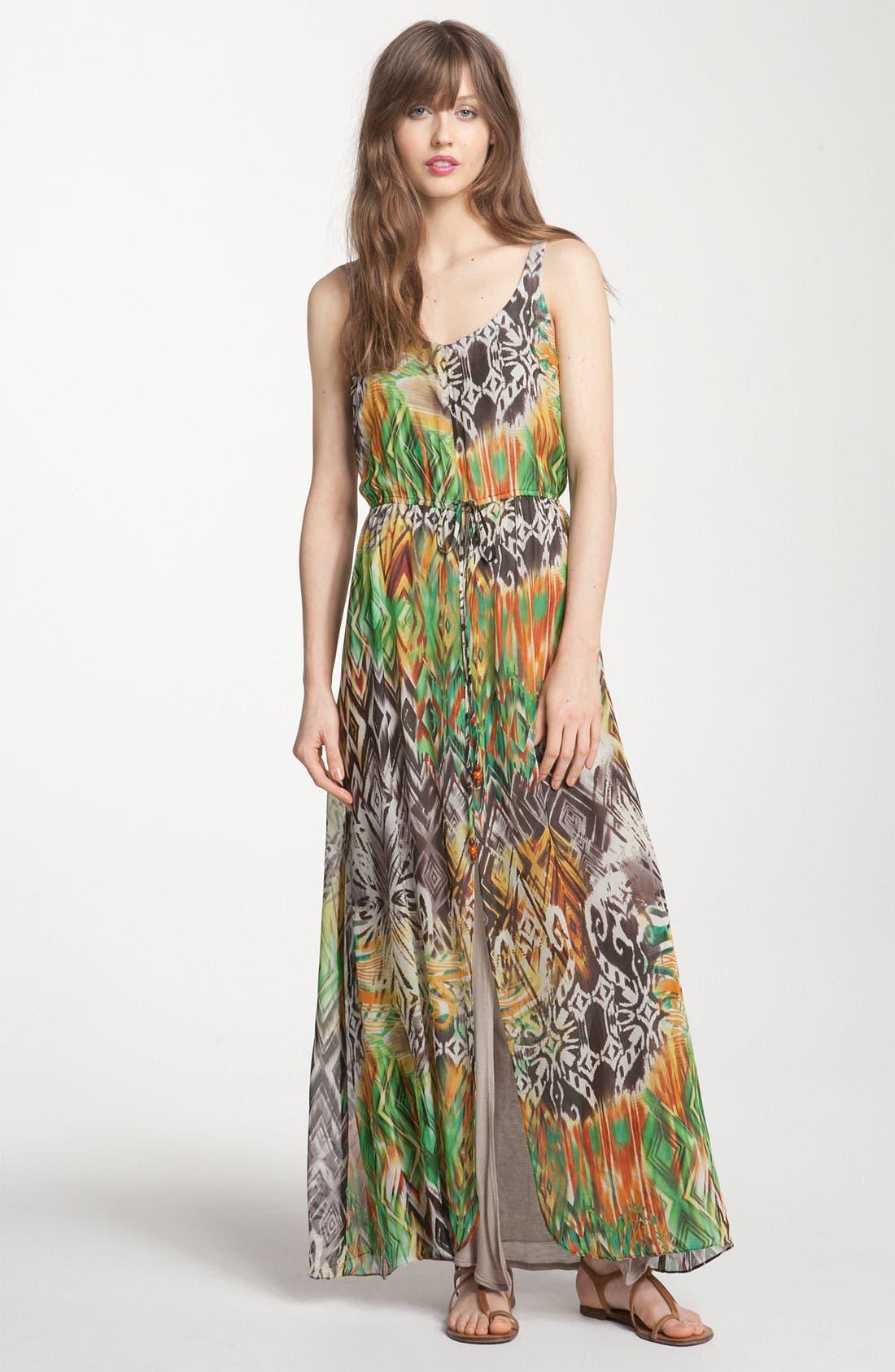 Print Maxi Dress, Main, color, 353