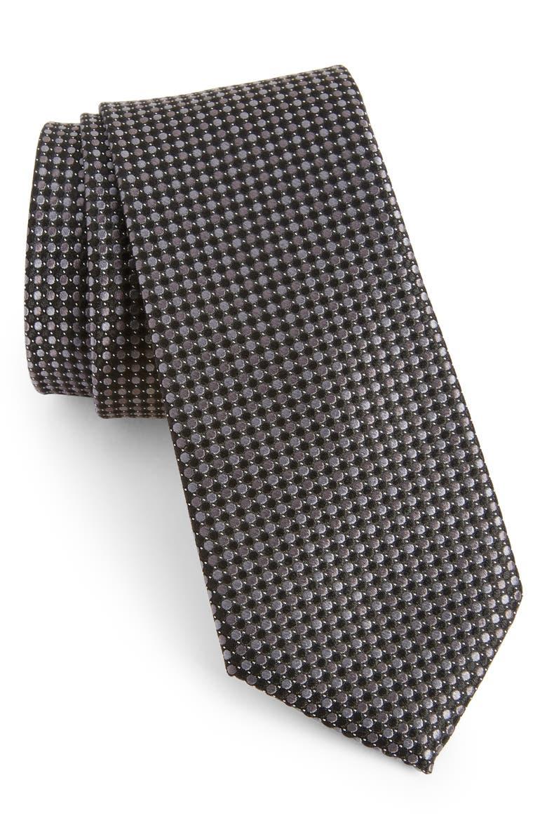NORDSTROM MEN'S SHOP Morris Micro Silk Tie, Main, color, 001