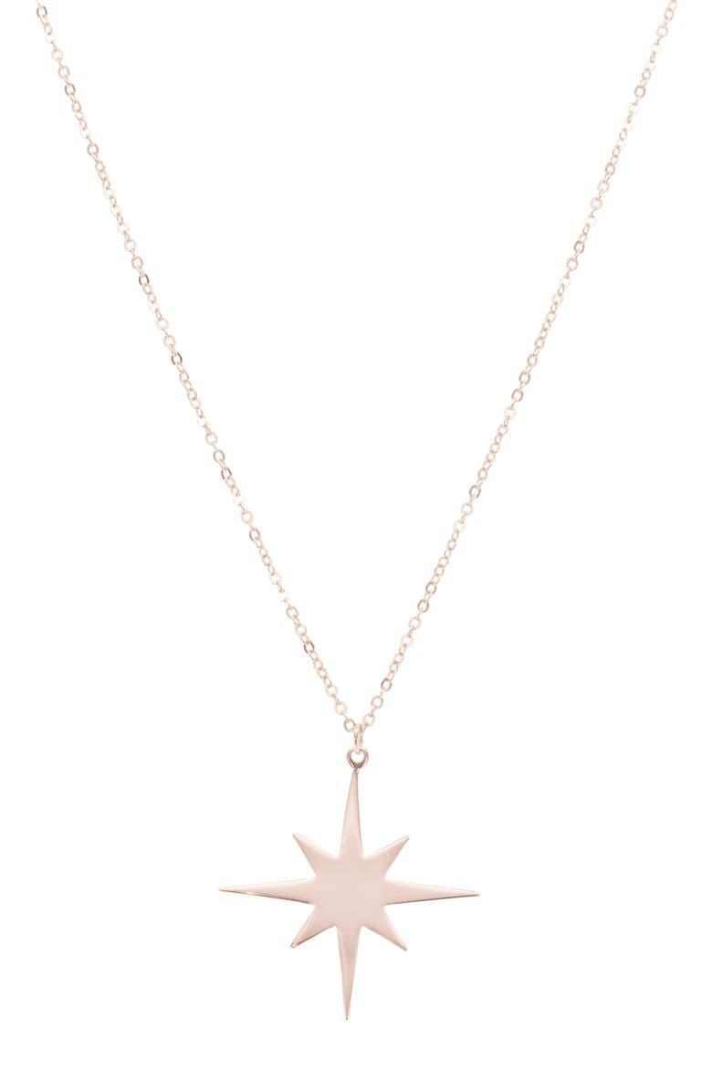 RAGEN JEWELS Star Pendant Necklace, Main, color, ROSE GOLD