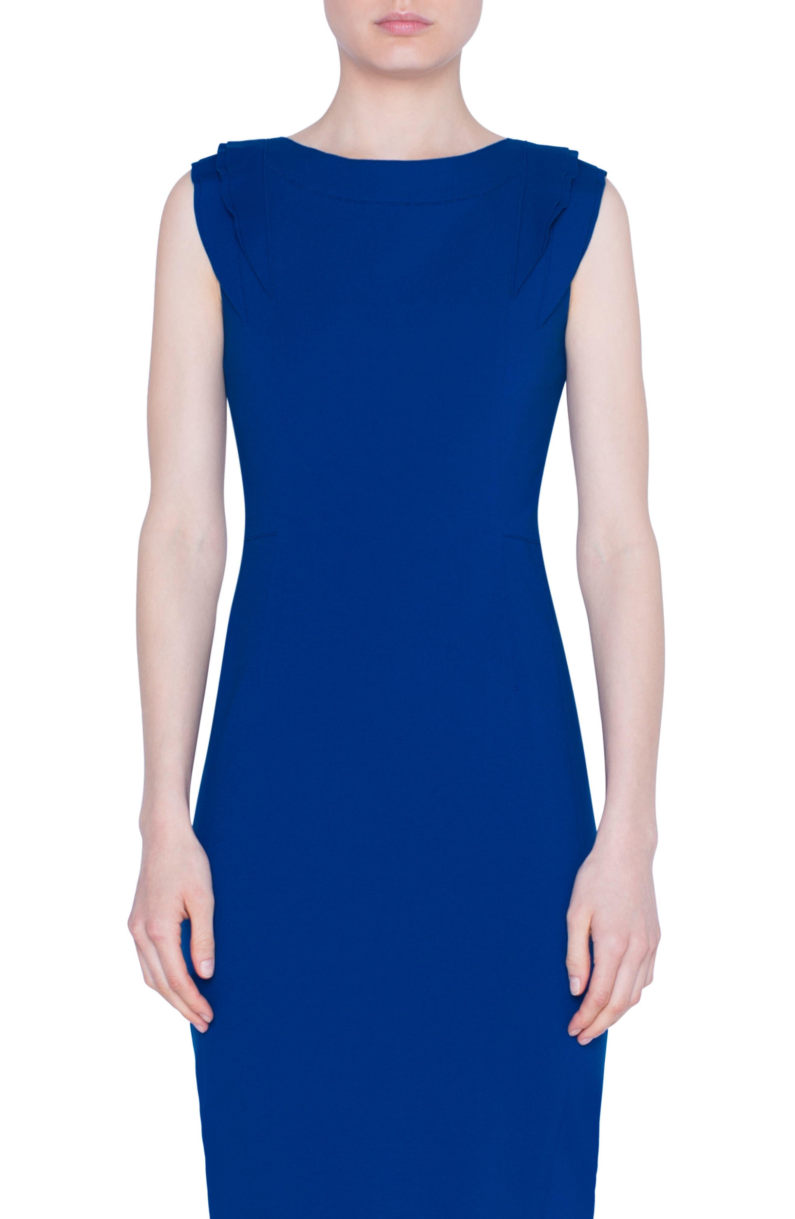 Akris Punto Dresses Ruffle Detail Midi Sheath Dress