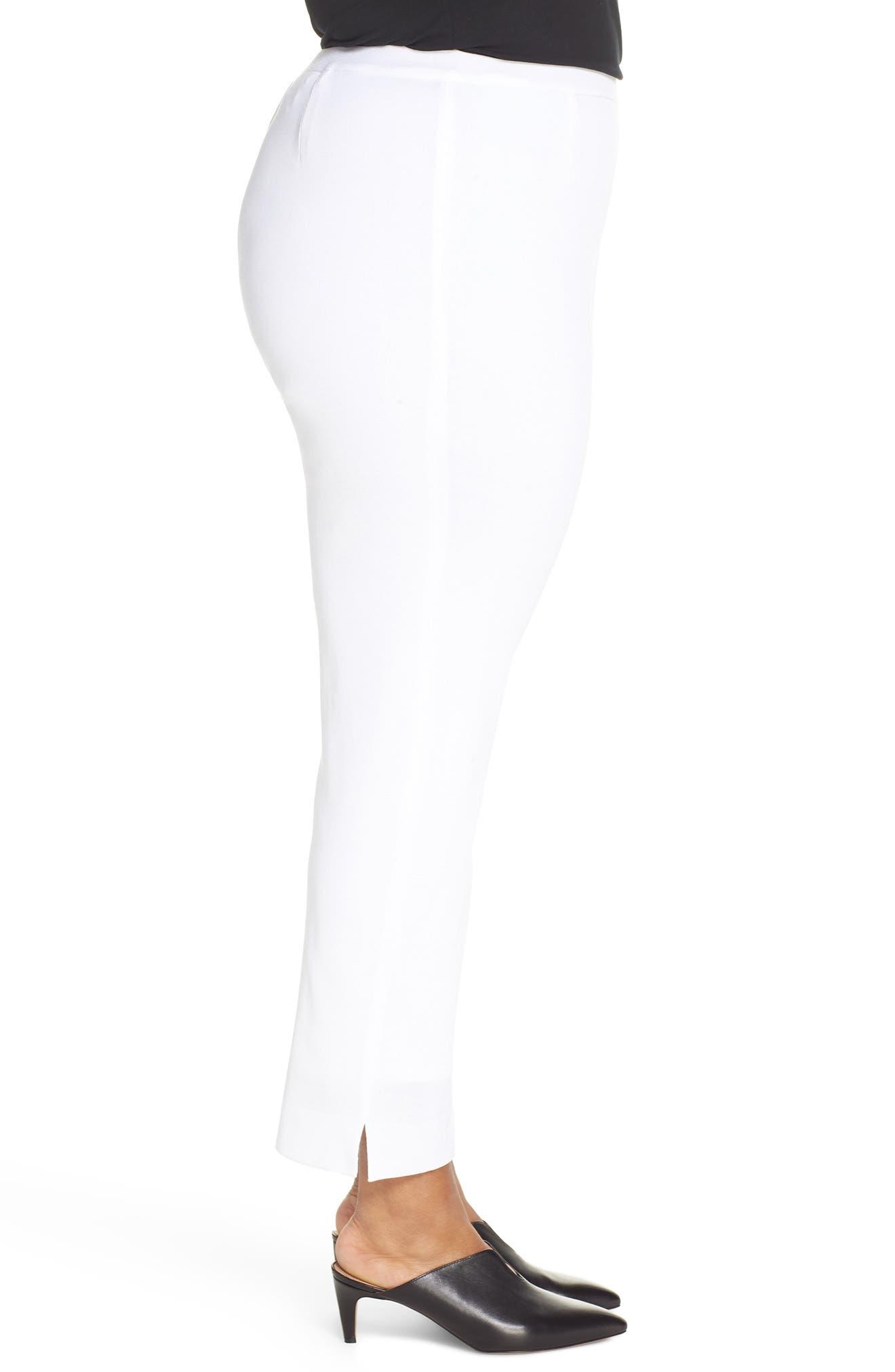 ,                             Knit Ankle Pants,                             Alternate thumbnail 4, color,                             WHITE