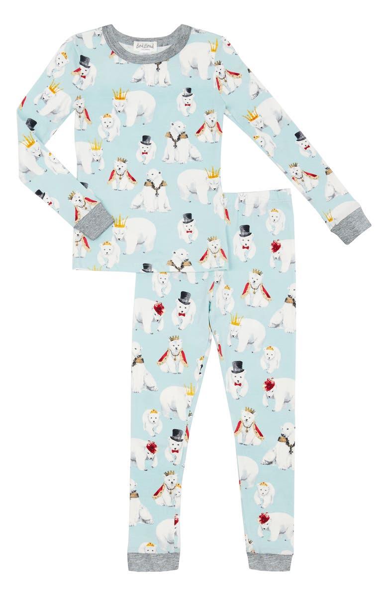 BEDHEAD PAJAMAS Polar Bear Print Pajamas, Main, color, 256