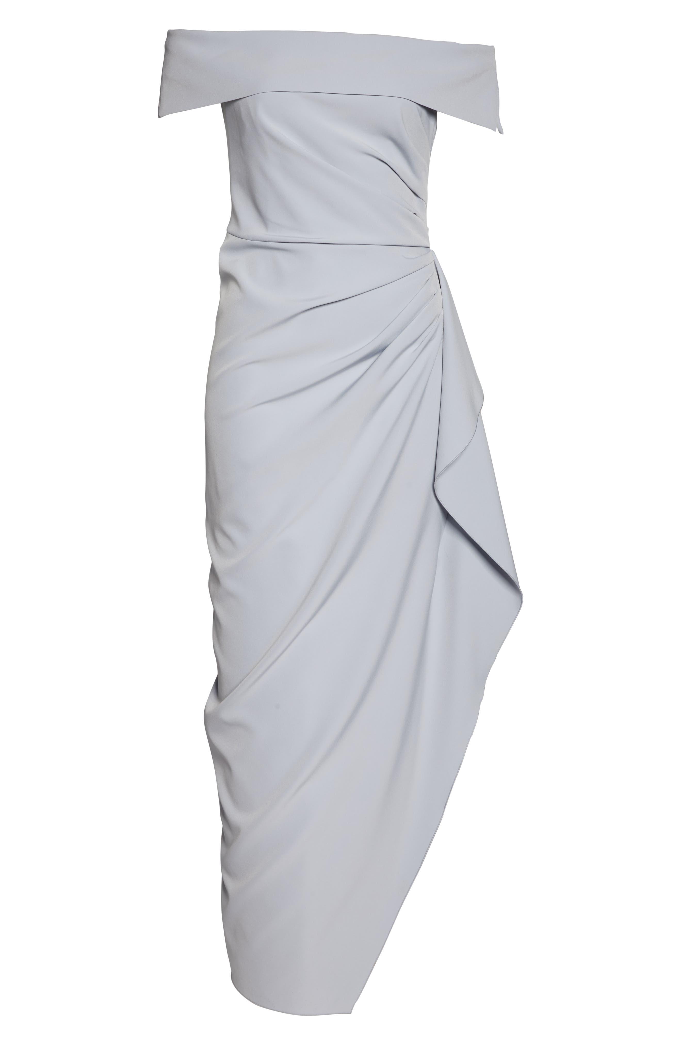 ,                             Off the Shoulder Crepe Gown,                             Alternate thumbnail 28, color,                             450