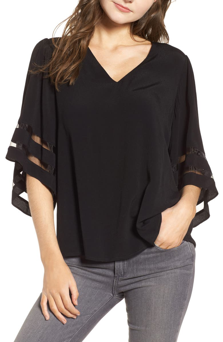 CHELSEA28 Illusion Sleeve Top, Main, color, 001