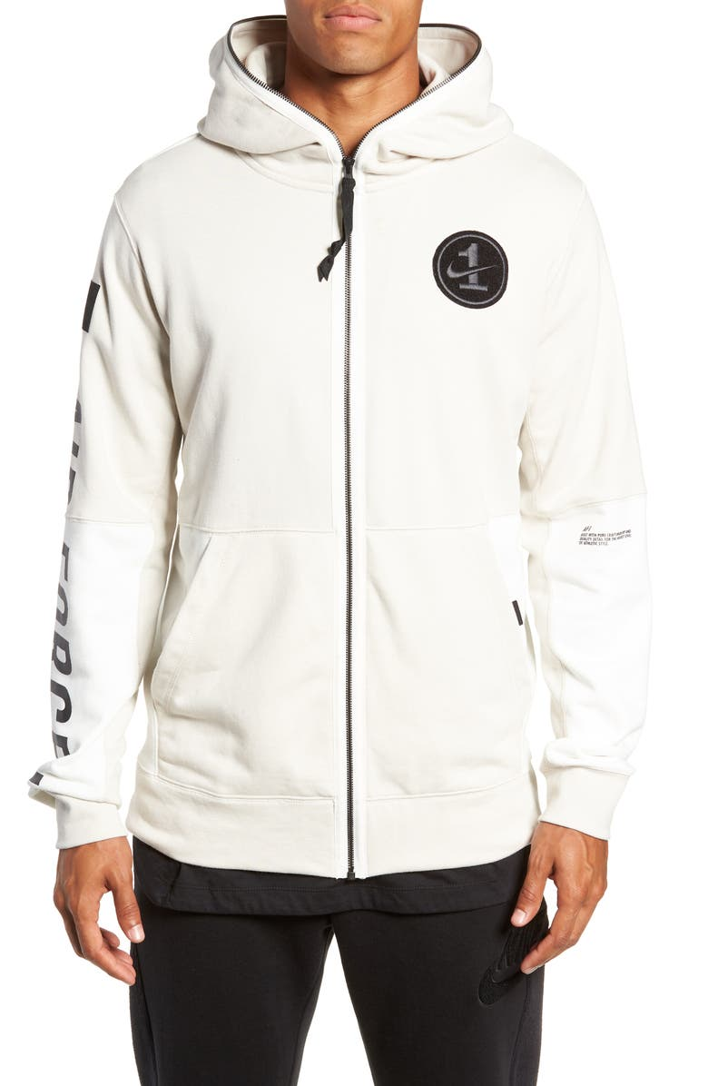 NIKE Air Force One Zip Hoodie Jacket, Main, color, 102