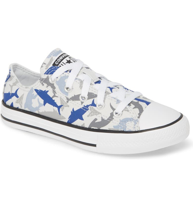 CONVERSE Chuck Taylor<sup>®</sup> All Star<sup>®</sup> Shark Low Top Sneaker, Main, color, PHOTON DUST/ RUSH BLUE/ WHITE
