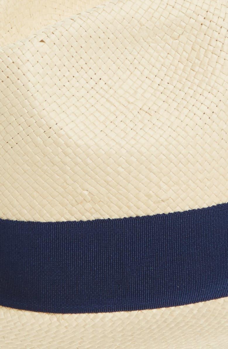 MICHAEL STARS 'Well Weathered' Straw Panama Hat, Main, color, BAMBOO