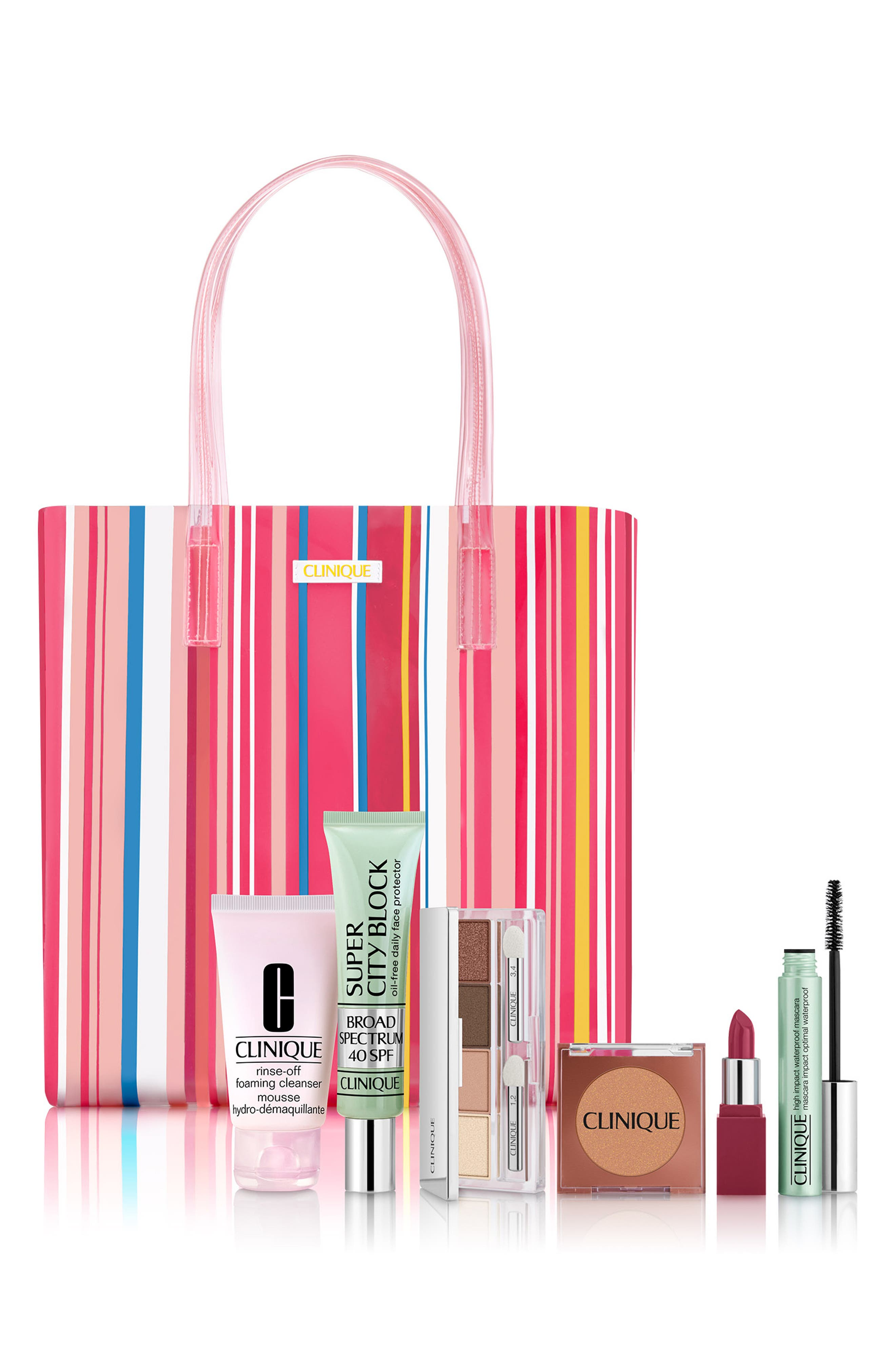 ,                             Beach Bag Essentials Set,                             Main thumbnail 1, color,                             000