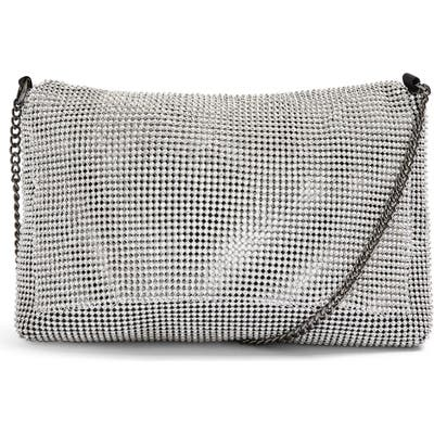 Topshop Charm Convertible Clutch - Metallic