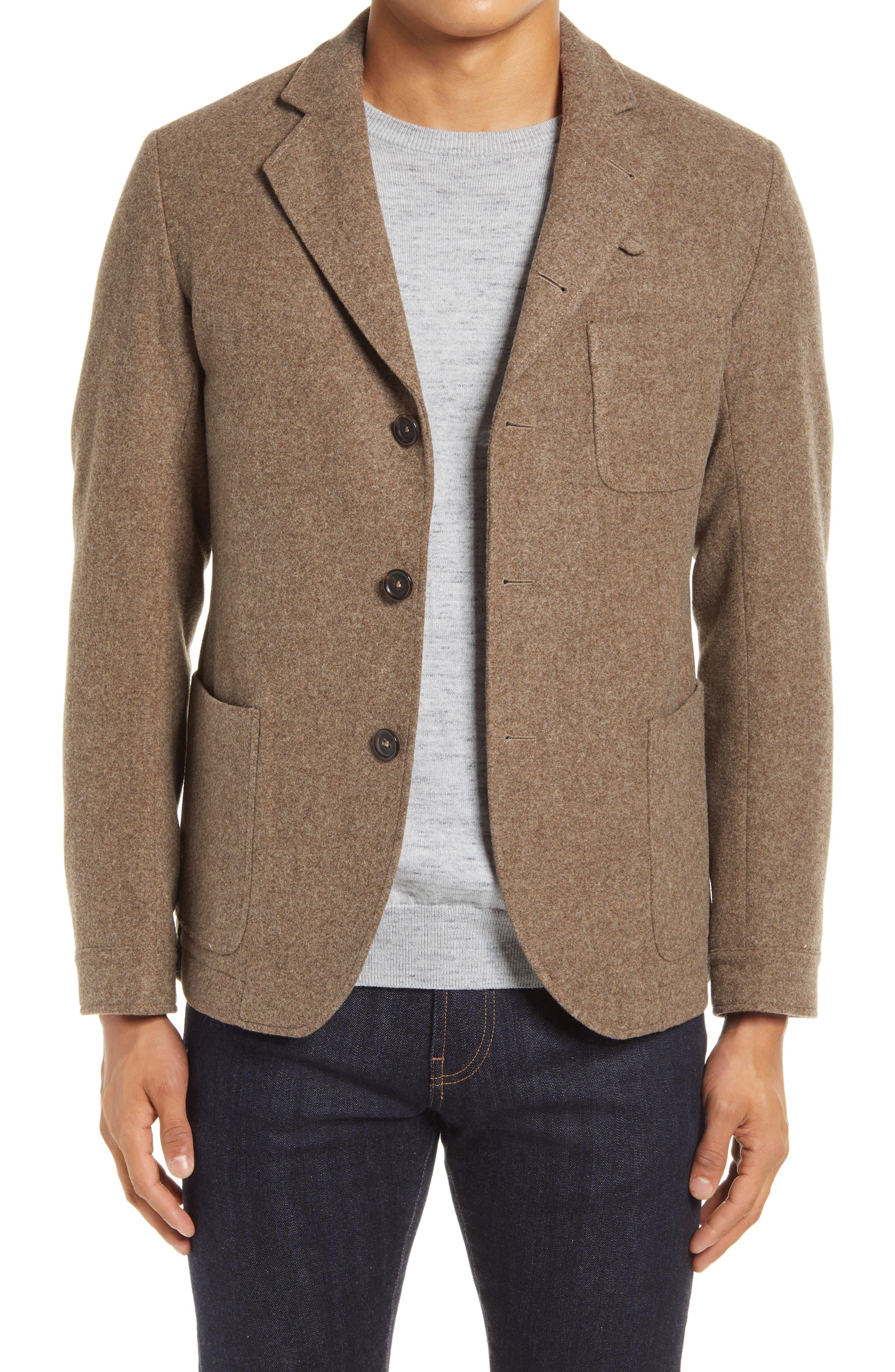 Oliver Spencer Mens Wool Blend Solms Onslow Jacket Navy