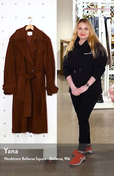 Belted Wool Blend Trench Coat, sales video thumbnail