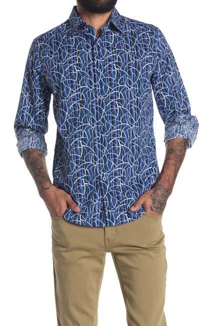 Image of Robert Graham Silver City Printed Regular Fit Shirt